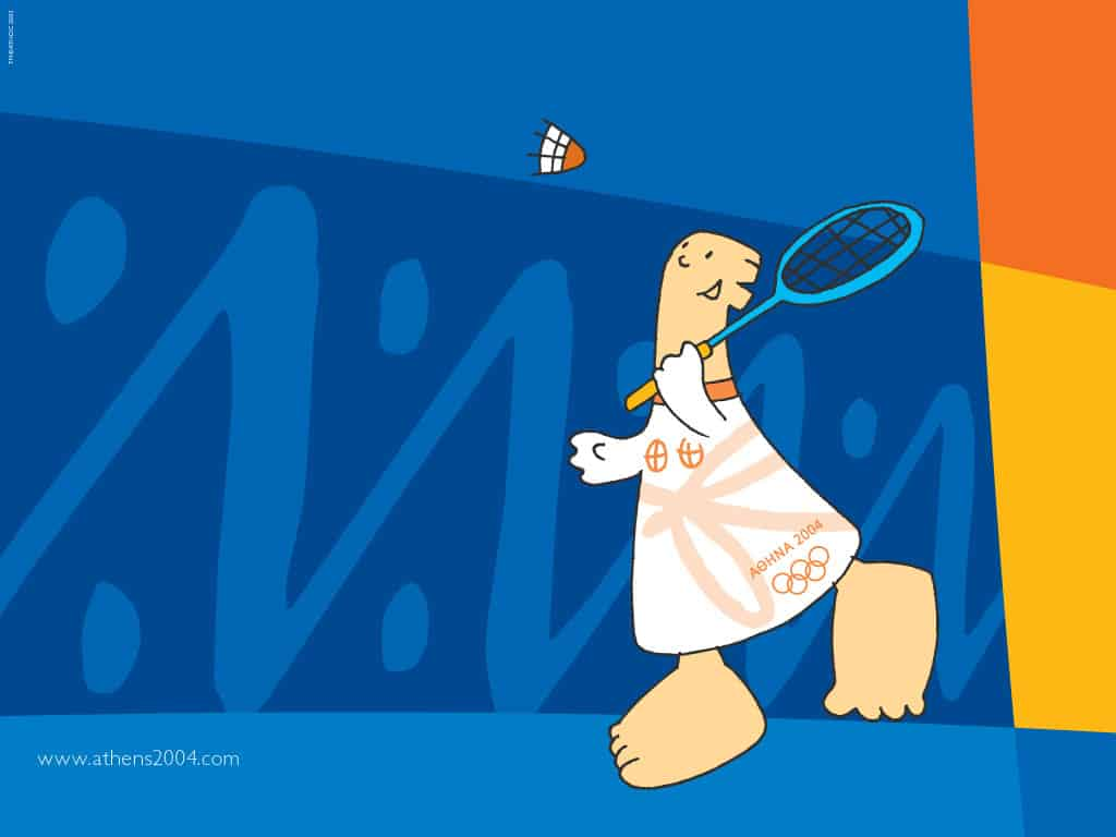 bandminton-sport-mascot-athens-2004-olympic-games-photo-page