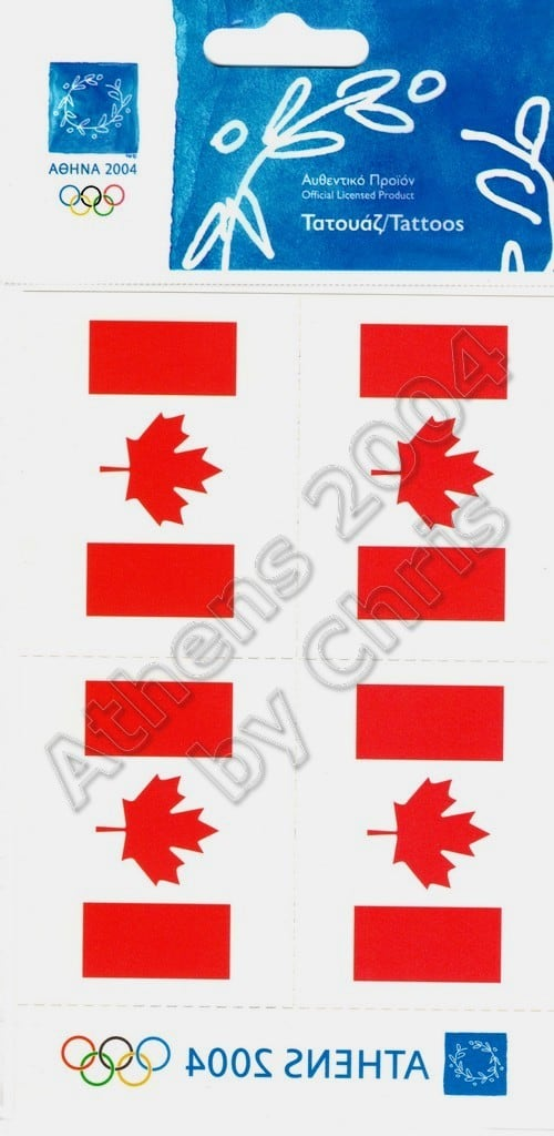 canadian-flag-tattoos-athens-2004-olympic-games-2